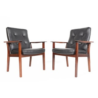Arne Vodder Rosewood Armchairs - A Pair