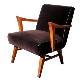 Wormley for Dunbar Style Brown Micro Velvet Armchair