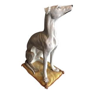 Ceramic Whippet Dog Statue