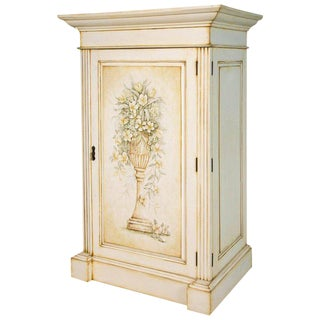 French Hand-Painted Storage Cabinet / Armoire