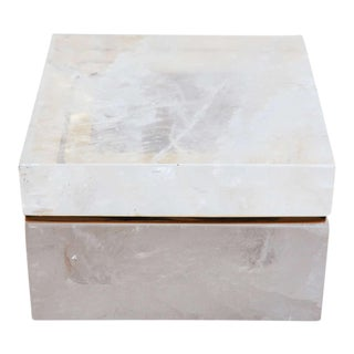 Large, Elegant, Rock-Crystal Box