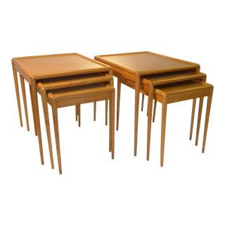 Pair Th Robsjohn Gibbings Mid Century Modern Nesting Tables Sets For Widdicomb