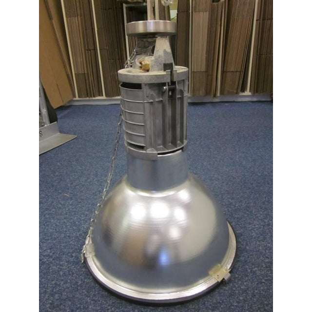 Five Large French Mid-Century Industrial Lights - Image 4 of 8