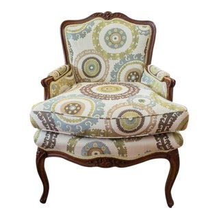 French Louis XVI Bergere Accent Chair