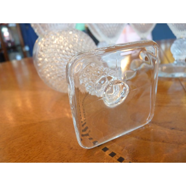 Pressed Glass Footed Goblets - Set of 8 - Image 5 of 8
