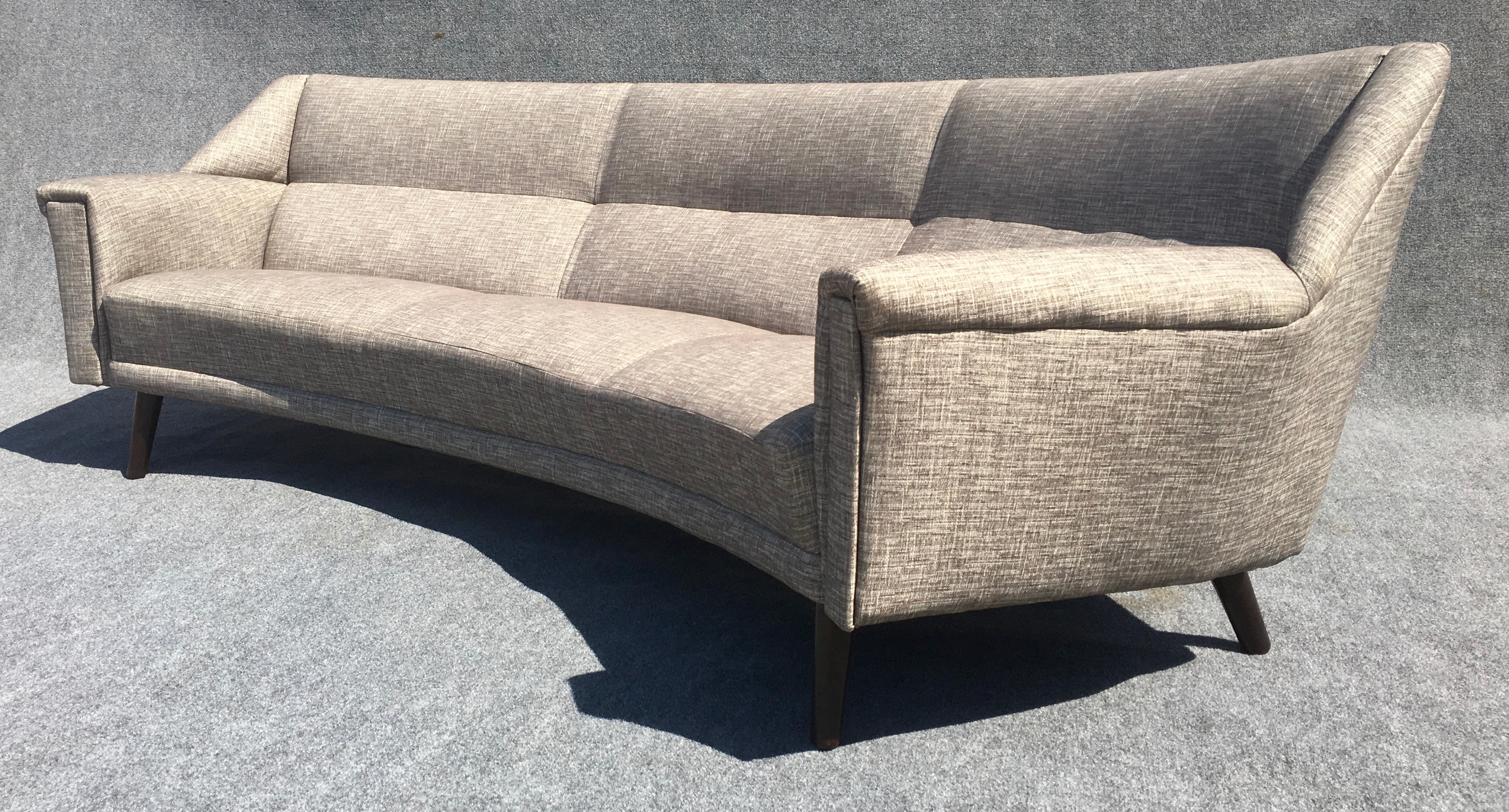 Danish Modern Curved Sofa By Kurt Ostervig For Henry Rolschau   Image 3 Of 9