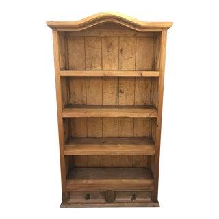 Rustic Pine Two Drawer Bookshelf