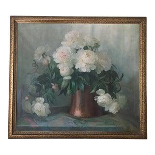 Bessie Helstrom Peony Oil Painting