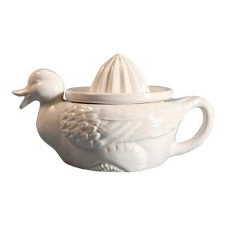 White Porcelain Duck Juicer