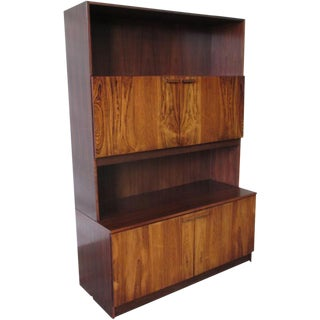 Vintage Mid-Century Modern Rosewood Bookcase Cabinet