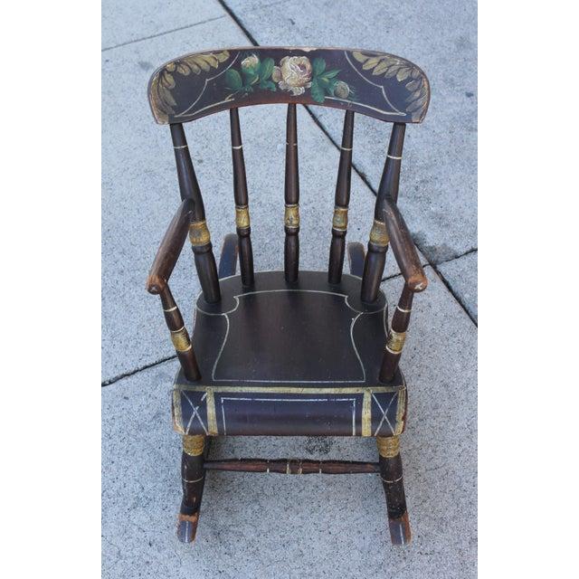 19th Century York County Pennsylvania, Original Painted Child's Rocking Chair - Image 9 of 9