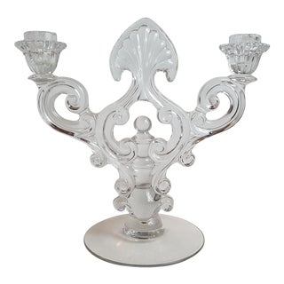 Crystal 1441 Key Hole Candelabrum by Cambridge