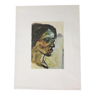 1960s Emile Nolde Watercolor Print