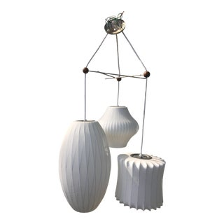 George Nelson White Triple Bubble Pendant Light