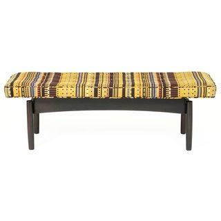 Jens Risom Style Maharam Upholstered Bench