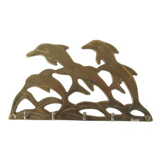Brass Dolphin Key Holder