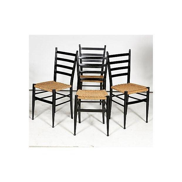 Image of Gio Ponti Attri. Vintage Dining Chairs - Set of 4