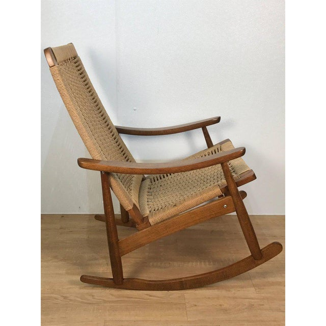 Mid-Century Wegner Style Rocking Chair - Image 4 of 6