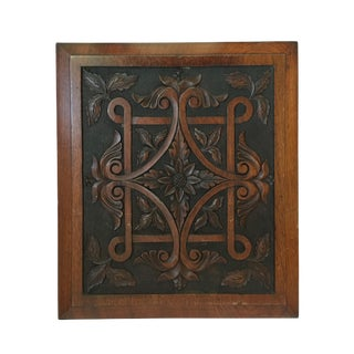 English Carved Wood Panel
