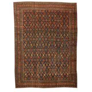 Antique Oversize 19th Century Persian Senna Carpet