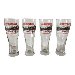 Budweiser Clydesdales Holiday Glasses - Set of 4