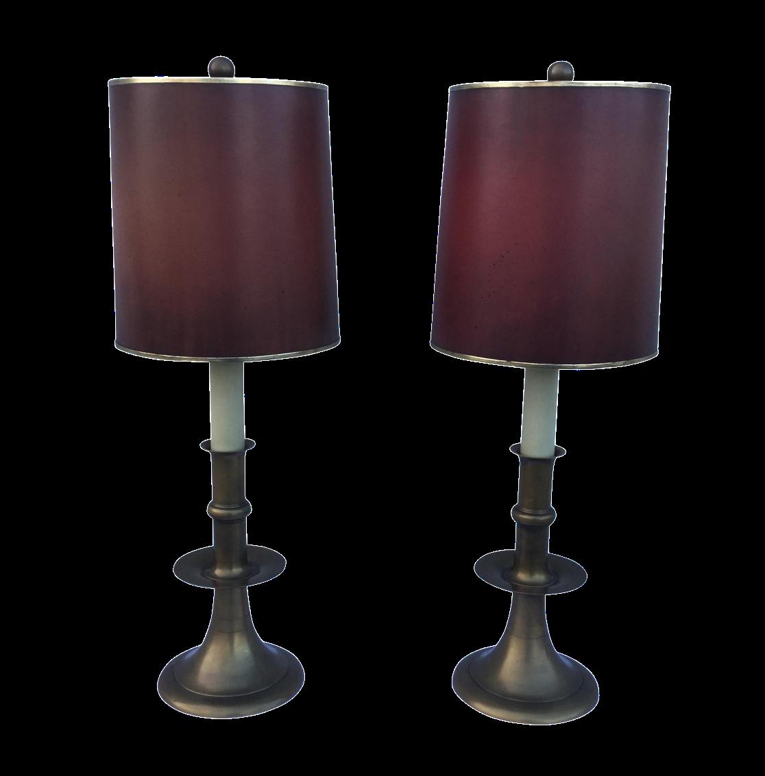 Chapman 1960s Modern Brass Table Lamps A Pair Chairish