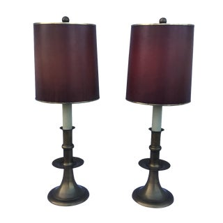 Chapman 1960s Modern Brass Table Lamps - A Pair