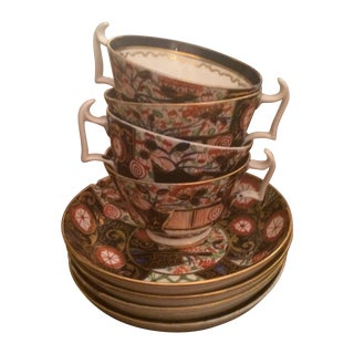 Royal Crown Derby Imari Tea Cups & Saucers - S/4
