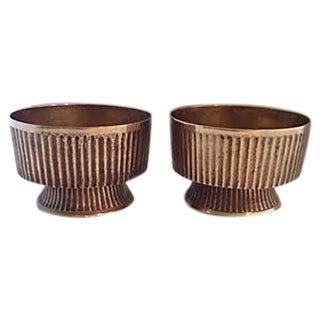 Mid-Century Italian Brass Bowls - A Pair