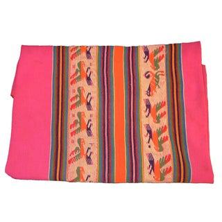 Peruvian Hot Pink Woven Textile