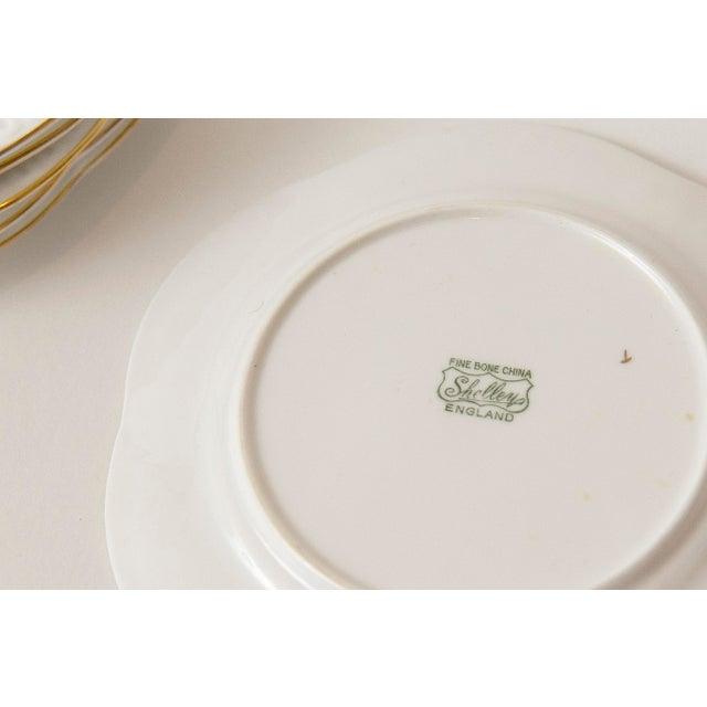 Vintage Shelley Fine Porcelain Dessert Plates -S/6 - Image 9 of 9