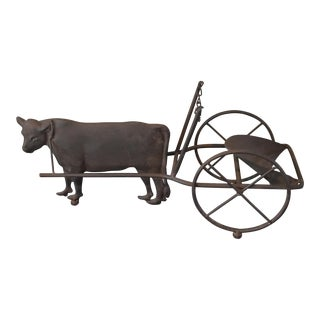 Rustic French Cow Wine Holder