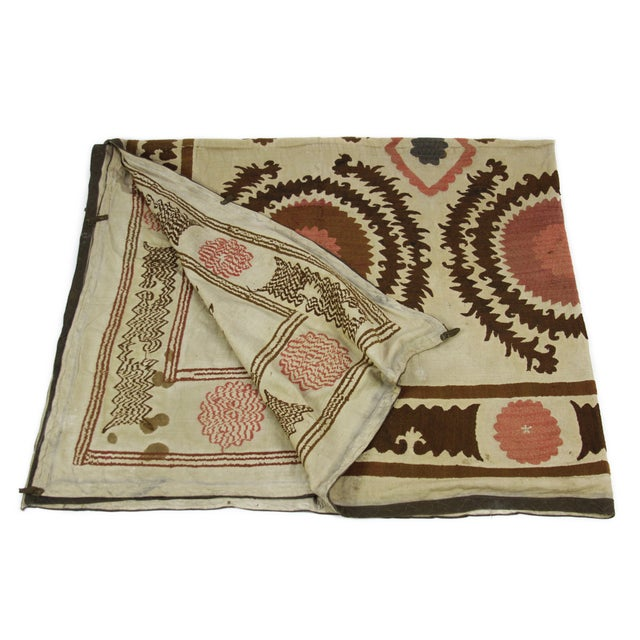 Antique Suzani Throw - Image 1 of 7