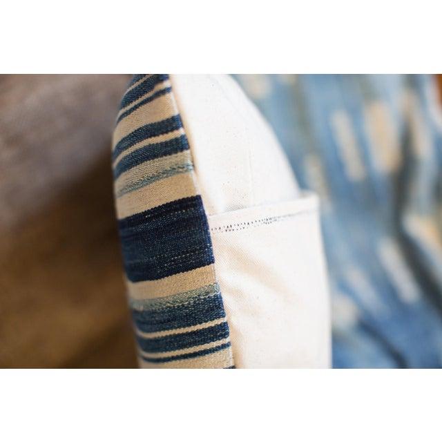 Striped Indigo Throw Pillow - Image 6 of 6