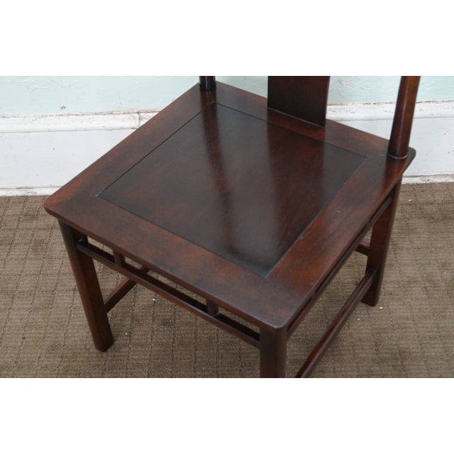 Baker Asian Mahogany Dining Chairs - Set of 8 - Image 5 of 10
