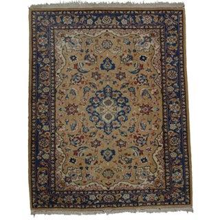 Rugsindallas Vintage Persian Esfahan Wool Rug - 5′2″ × 6′8″