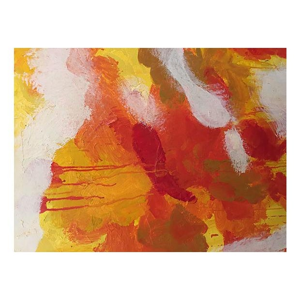 Lee Reynolds Mid-Century Abstract Oil Painting - Image 5 of 5