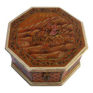 Embossed Octagonal Wood Box