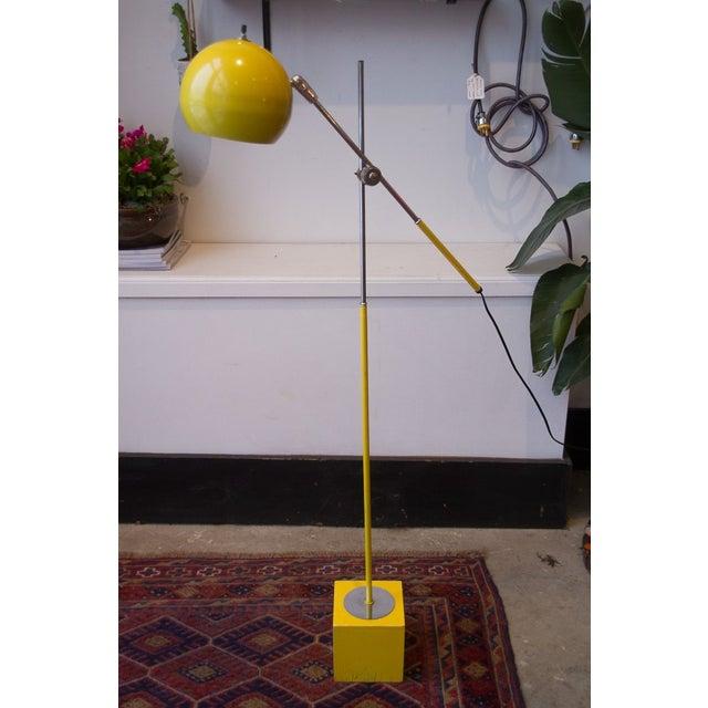 George Kovacs Bright Yellow & Chrome Floor Lamp - Image 3 of 5