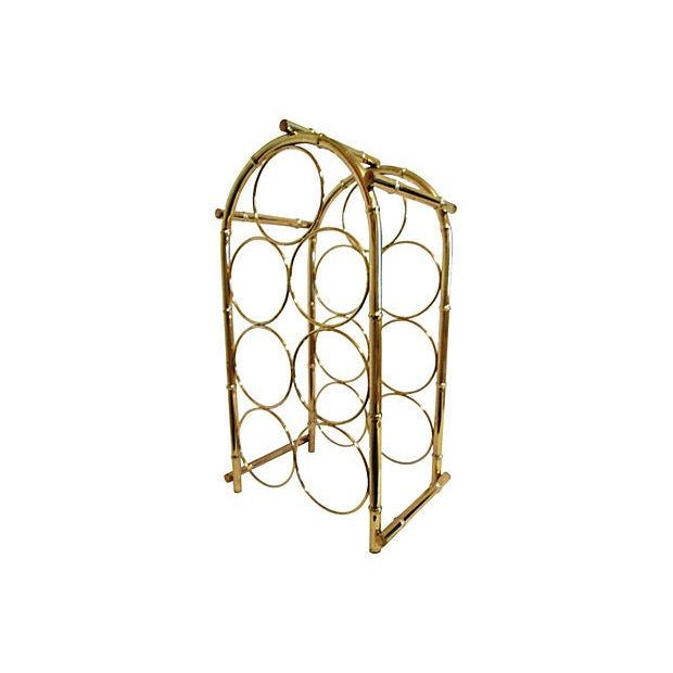 Brass-Plated Dome Bamboo Wine Rack - Image 1 of 6