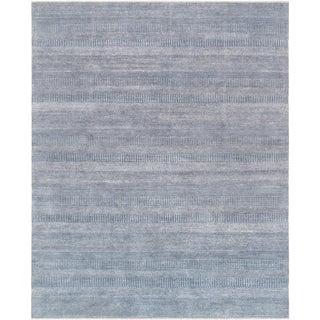 "Pasargad Transitional Bamboo Silk & Wool Area Rug - 8' X 9'10"""