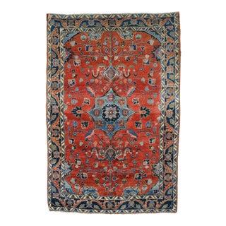 """Vintage Persian Sarouk Lilihan Rug - 4' x 5'11"""""""