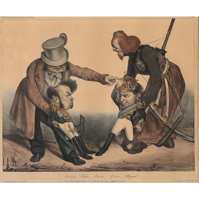 French 19th Century Caricature Lithograph - Image 3 of 11
