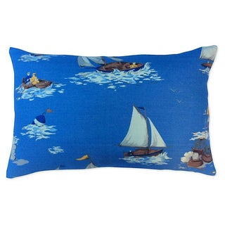 Scalamandre Breezy Point Sailboat Pillow