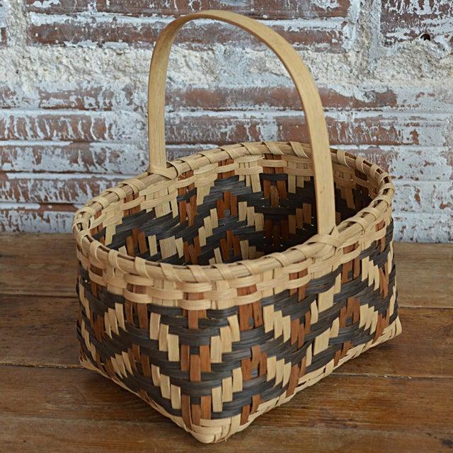 Carol Welch Cherokee White Oak Small Market Basket - Image 6 of 9