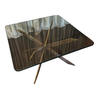Vintage Brass Starburst Coffee Table