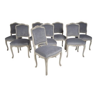 French Antique Louis XV Dining Chairs - Set of 8