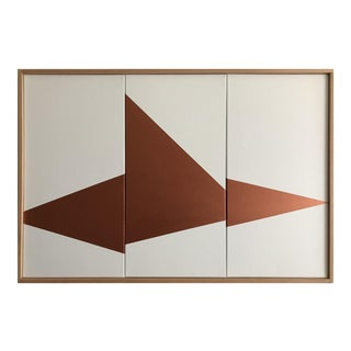 "Jason Trotter Original Acrylic Painting ""Copper On Point Triptych JET0501"""