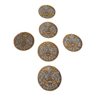 Hand Painted Terracotta Coasters - Set of 6