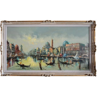 The Grand Canal Venice Italy Vintage Painting